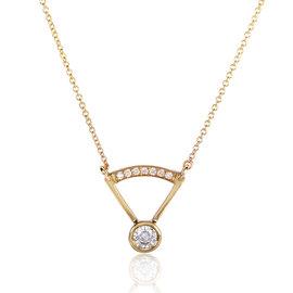 14K Yellow Gold 0.3ct Diamond Necklace