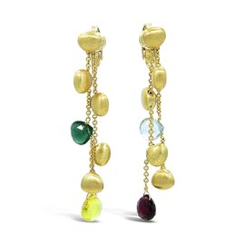 Marco Bicego Confetti 18K Yellow Gold Multi Color Gemstone Earrings
