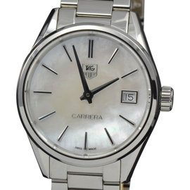 Tag Heuer WAR1311.BA0773 Carrera Mother of Pearl Quartz Watch 32mm Womens Watch