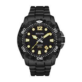 Bulova 98B242 Sea King Date 300m WR Black IP Stainless Steel Bracelet Watch