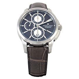 Maurice Lacroix Pontos PT6188-SS001-730 Chronographe Brown 43mm Mens Watch