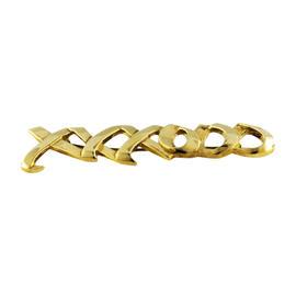 Tiffany & Co. 18K Yellow Gold XXXOOO Signed Pin