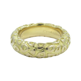 Chaumet Paris18K Yellow Gold Triangle Motif Band Ring Size 6.5