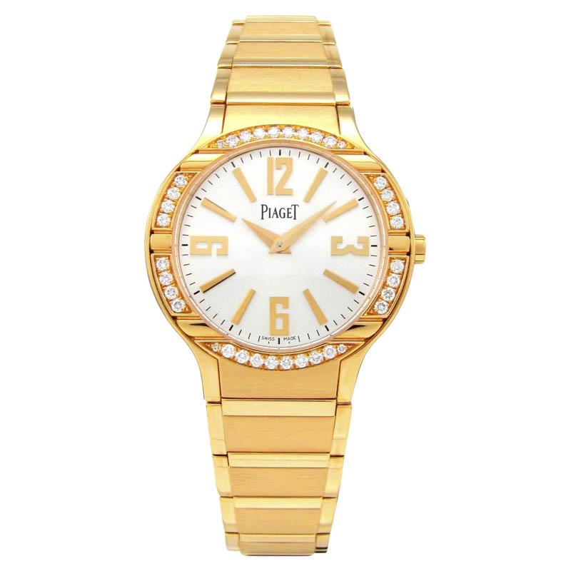 "Image of ""Piaget Polo G0A36031 18K Rose Gold Diamond Bezel 32mm Watch"""