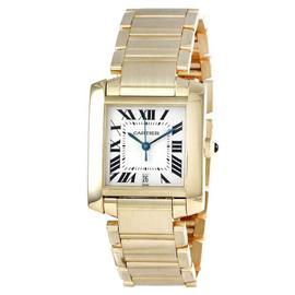 Cartier Tank Francaise W50001r2 18K Yellow Gold 28mm x 32mmm Watch