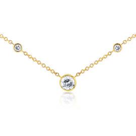 14K Yellow Gold 0.23ct. Diamond Bezel Necklace