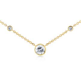 14K Yellow Gold 0.31ct. Diamond Bezel Necklace