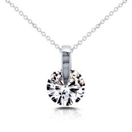 14K White Gold Wheel 1 7/8ct Diamond Necklace