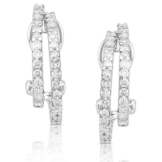 "Image of ""14K White Gold Round 0.9ct. Diamond Earrings"""