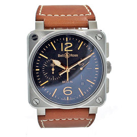 Bell & Ross Golden Heritage BR0394-ST-G-HE/SCA Stainless Steel 42mm Unisex Watch