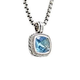 David Yurman Albion Sterling Silver Blue Topaz Pendant