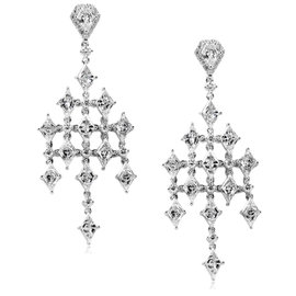 14K White Gold 4.35ct Diamond Earrings