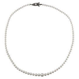 Mikimoto Sterling Silver Graduated Pearl Necklace