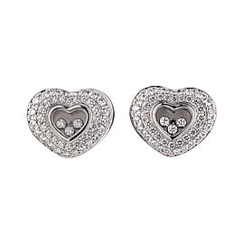 Chopard 18K White Gold Happy Diamonds Heart Earring