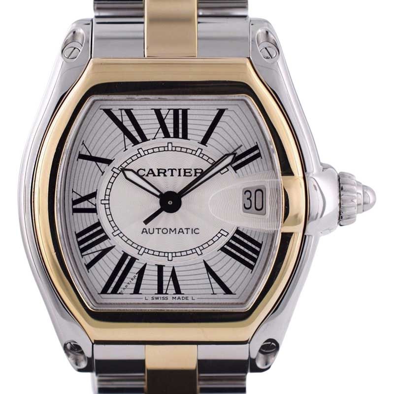 """Image of """"Cartier Roadster W62031Y4 Stainless Steel / 18K Yellow Gold 38mm Mens"""""""