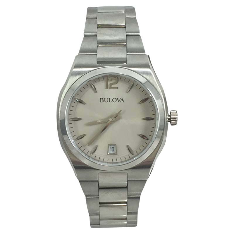 "Image of ""Bulova 96M126 Stainless Steel Silver Dial 34mm Womens Watch"""