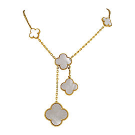 Van Cleef & Arpels Alhambra 18K Gold Mother of Pearl Necklace