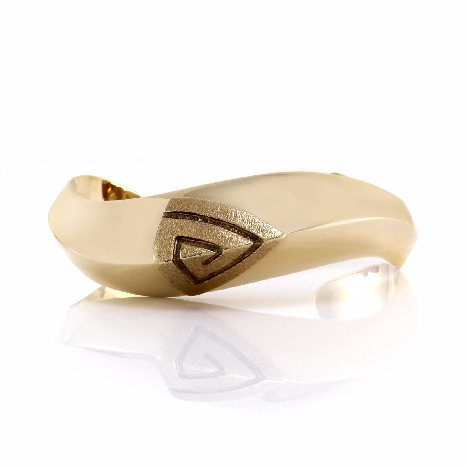 "Image of ""Hammerman Brothers 14k Yellow Gold Modernist Triangle Cuff Bracelet"""