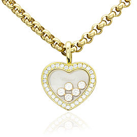 Chopard Happy Diamonds Collection 18k Yellow Gold Heart Necklace