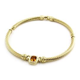 David Yurman 18K Yellow Gold Citrine & Sapphire Cable Necklace