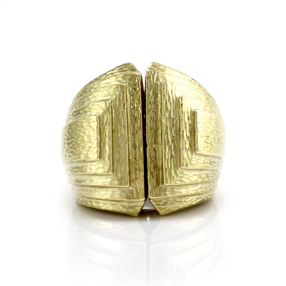 "Image of ""David Webb 18K Yellow Gold Ancient World Step Ring Size 5"""