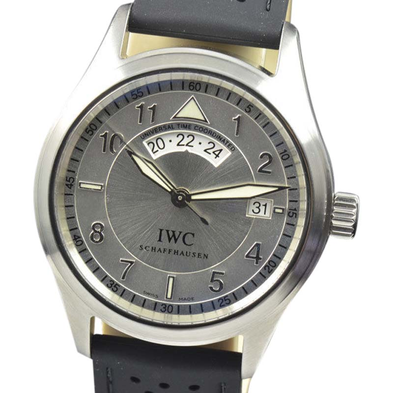"Image of ""IWC Spitfire Iw3251 UTC Silver Dial Stainless Steel Automatic 39mm"""