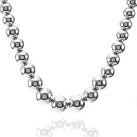 Tiffany & Co. Graduated Sterling Silver Bead Necklace
