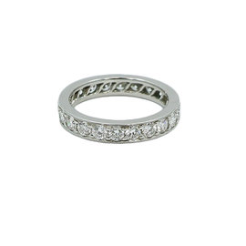 Cartier 950 Platinum and Diamond Eternity Band Ring Size 6