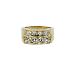 Cartier 18K Yellow Gold and Diamond Ring Size 10