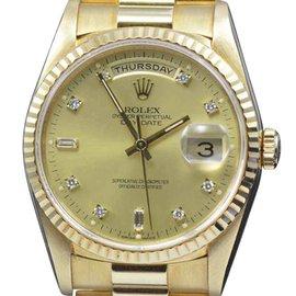 Rolex Day-Date President 18238 Diamond Dial 18K Gold 36mm Mens Watch