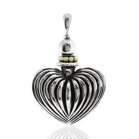 Lagos Caviar Sterling Silver and 18K Yellow Gold Heart Perfume Pendant