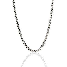 David Yurman Sterling Silver Box Chain Necklace