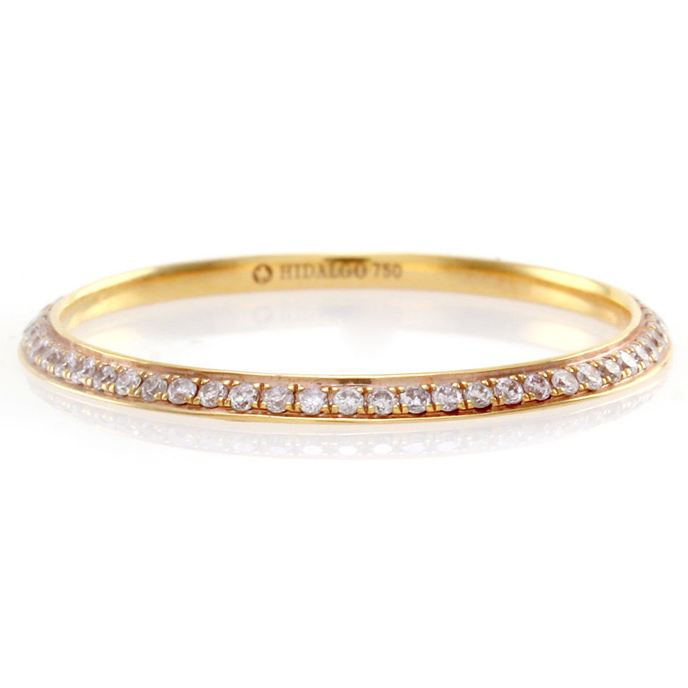 "Image of ""Hidalgo 18K Rose Gold & Diamond Eternity Ring Size 6.5"""