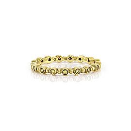 Hidalgo 18K Yellow Gold & Diamond Eternity Band Ring Size 6.25