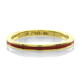 Hidalgo 18K Yellow Gold & Pink Enamel Stackable Eternity Band Ring Size 6.25