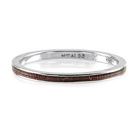 Hidalgo 18K White Gold & Magenta Enamel Stackable Eternity Band Ring Size 6.25