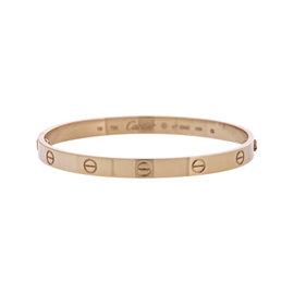 Cartier Love 18K Rose Gold Bangle Bracelet 19