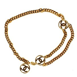 Chanel Gold Tone Hardware CC Charms Necklace