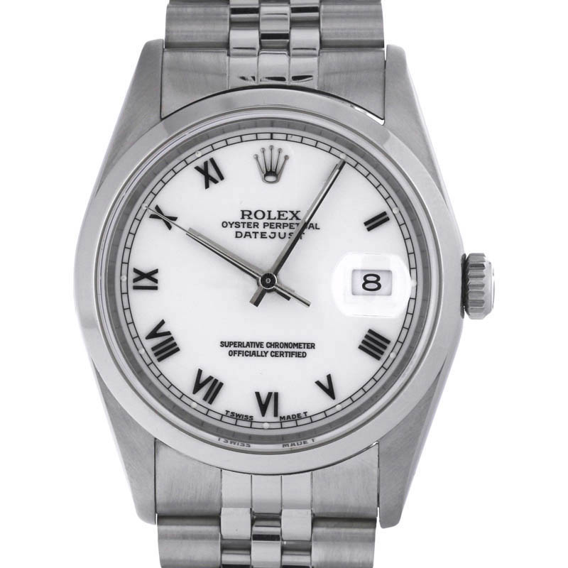 "Image of ""Rolex Datejust 16200 Stainless Steel Automatic 36mm Unisex Watch"""