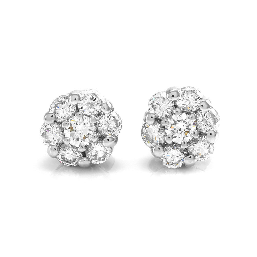 "Image of ""Gregg Ruth 18K White Gold Diamond Cluster Earrings"""