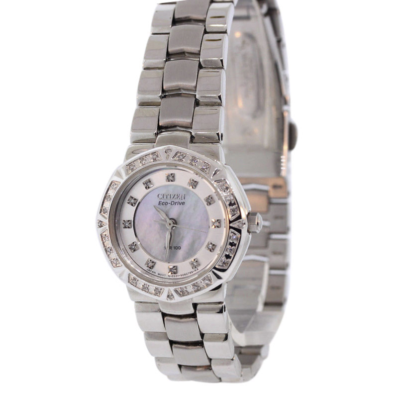 "Image of ""Citizen Ep5830-56D Stainless Steel & Mother of Pearl Dial 26mm Womens"""