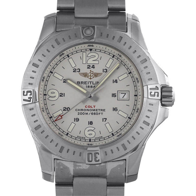 "Image of ""Breitling Colt A7438811 / G792 Stainless Steel Quartz 44mm Mens Watch"""