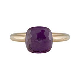 Pomellato Nudo 18K Rose Gold Amethyst Ring Size 6.25