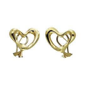 Tiffany & Co. Elsa Peretti 18K Yellow Gold Open Heart Earrings