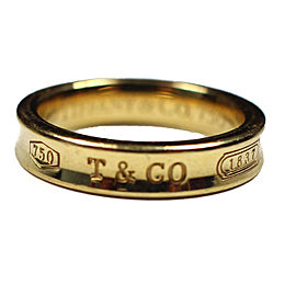 Tiffany & Co. 18K Yellow Gold Engraved Ring Size 5