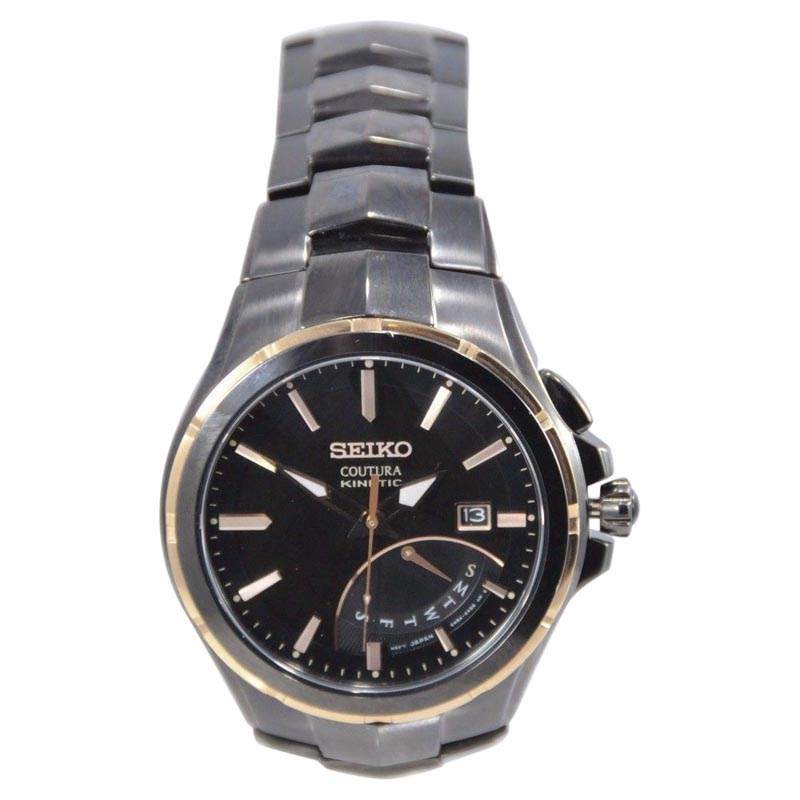 """Image of """"Seiko Srn066 Stainless Steel 44mm Mens Watch"""""""