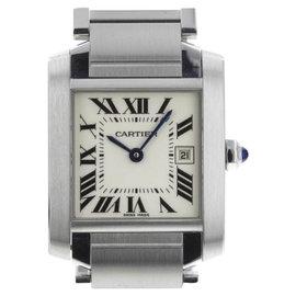 Cartier Tank Francaise W51011Q3 Stainless Steel Quartz 30mm Unisex Watch