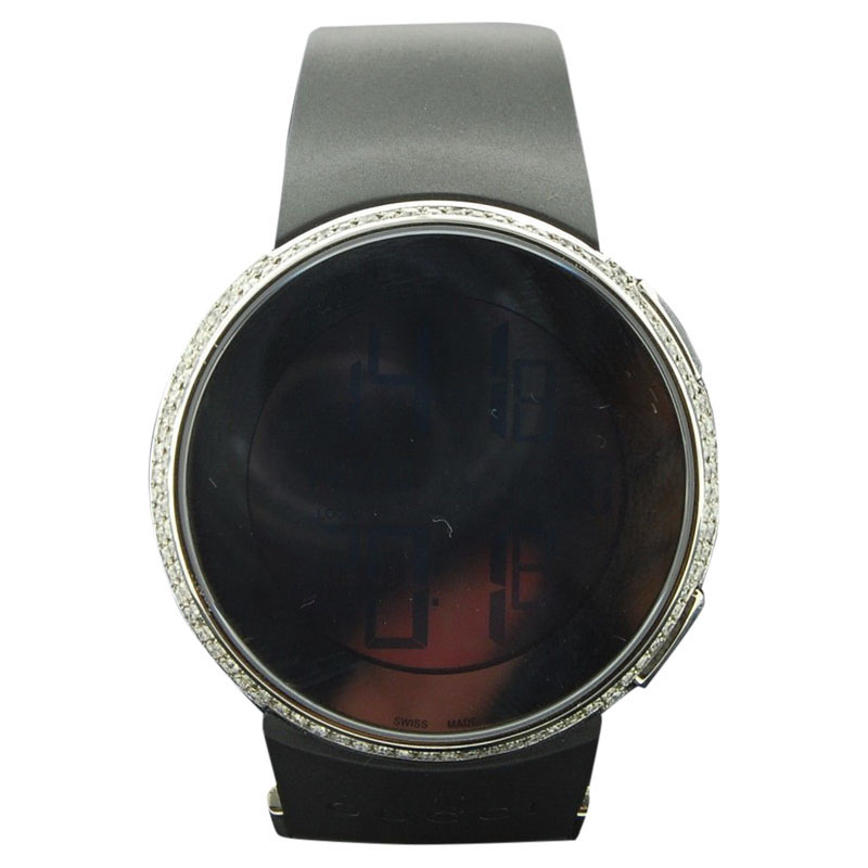 """Image of """"Gucci Ya114202 Stainless Steel Quartz 45mm Mens Watch"""""""
