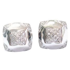 Bvlgari 18K White Gold Piramide Diamond Earrings