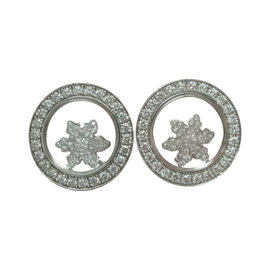Chopard 18K Happy Sport 2-Snowflake Diamond Earrings